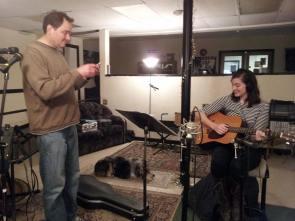 Jim and Emily in studio