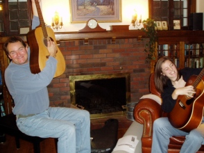 Jim and Emily rocking out