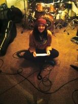 Emily in studio